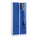 G-Office Z-Spind, 4 Abteile in Z-Anordnung, 1800 x 800 x 500 mm (HxBxT)